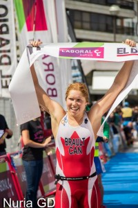 Sarah-Anne a gagné le triathlon de San Sebastian au pays Basque espagnol