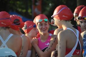 Départ des triathlons jeunes le samedi matin