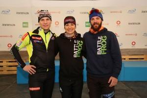 Trois participants de la Coupe du monde ITU de Triathlon d'hiver S3 Dusan Simocko, de la Slovaquie Claude Godbout, du Canada (Québec) Marc-André Bédard, du Canada (Québec)