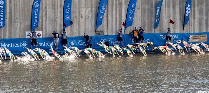triathlon mondial groupe copley 2019 - départ de nage - quai vieux port